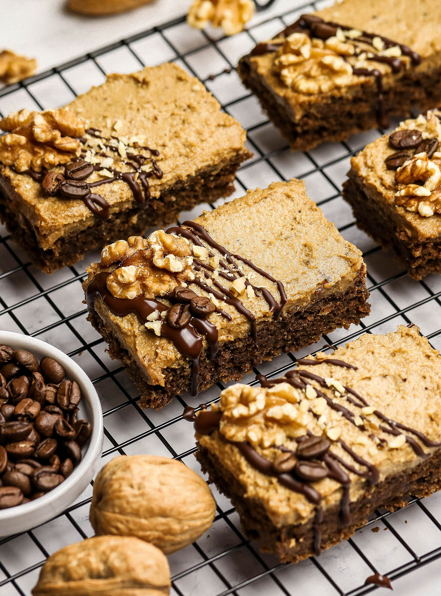 California Walnut Coffee Cake Bars