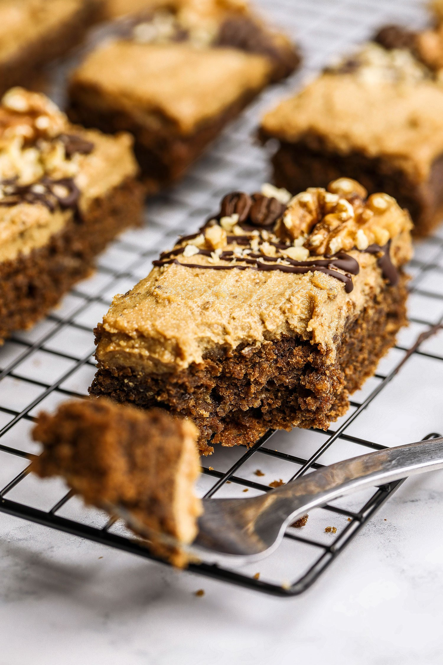 vegan gluten-free Walnut Coffee Cake
