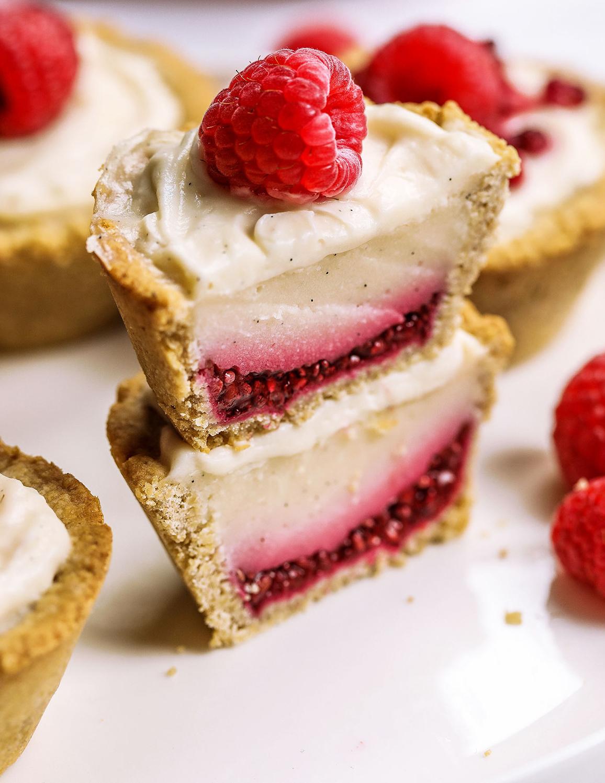 Vegan Raspberry Cheesecake Cups (cashew-free/nut-free/gluten-free)