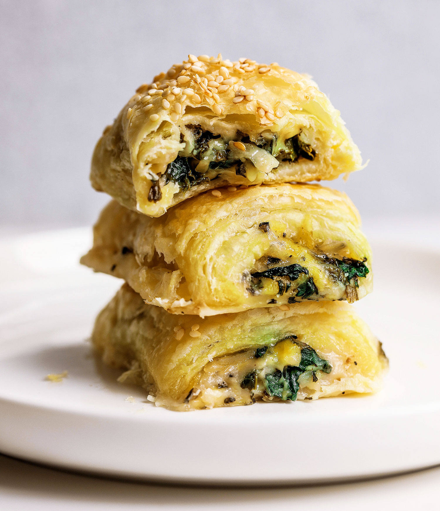 Vegan Spinach Cheese Rolls