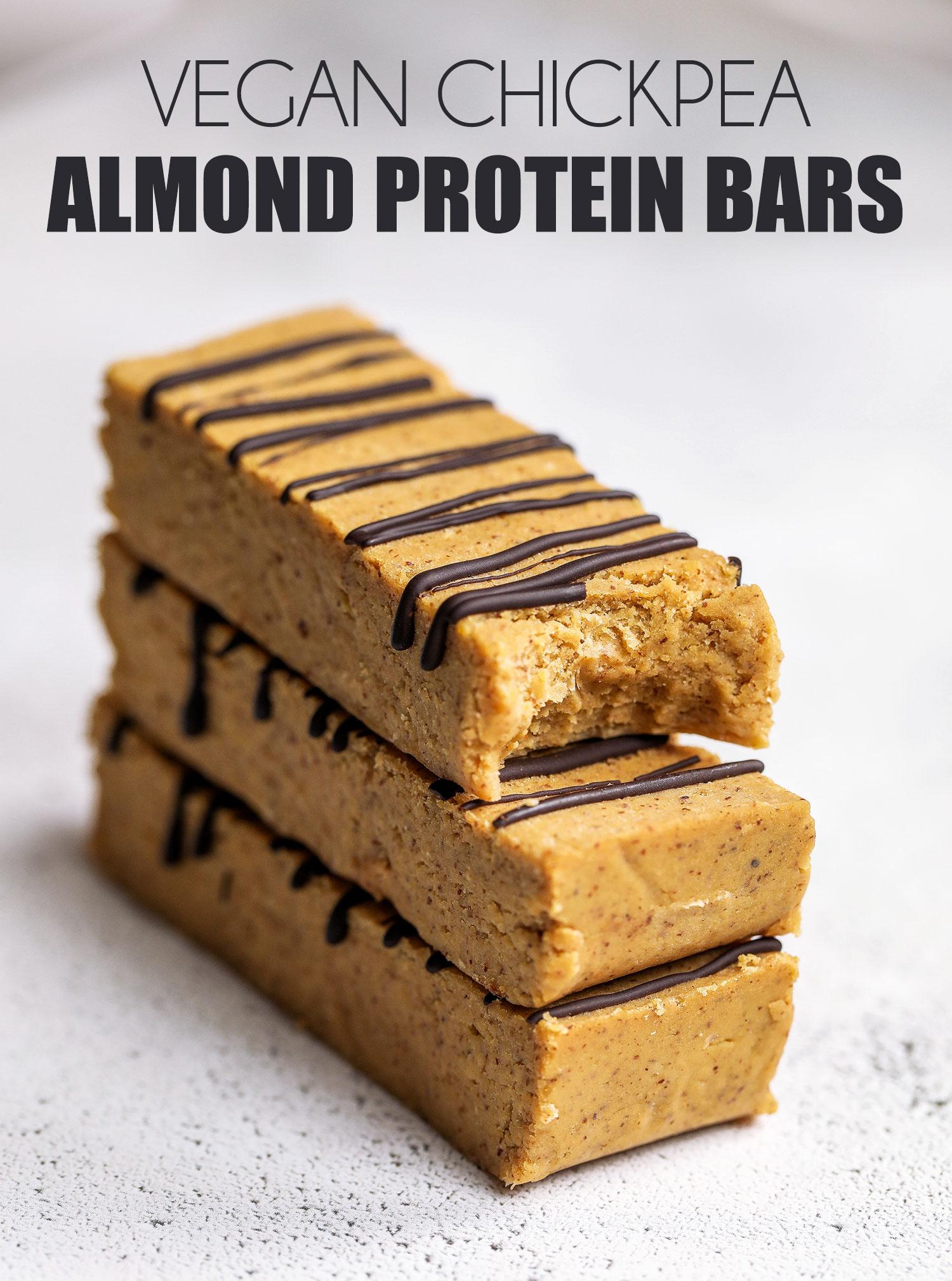 Vegan Chickpea Almond Protein Bars