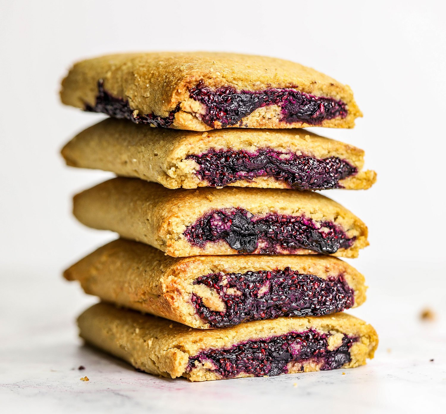 vegn gluten free Blueberry Filled Baked Bars