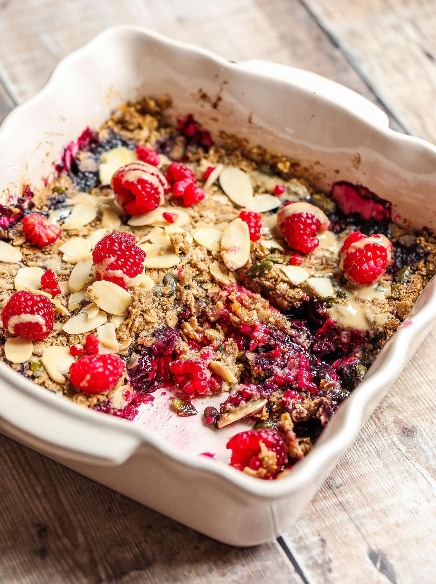Breakfast Berry Crumble