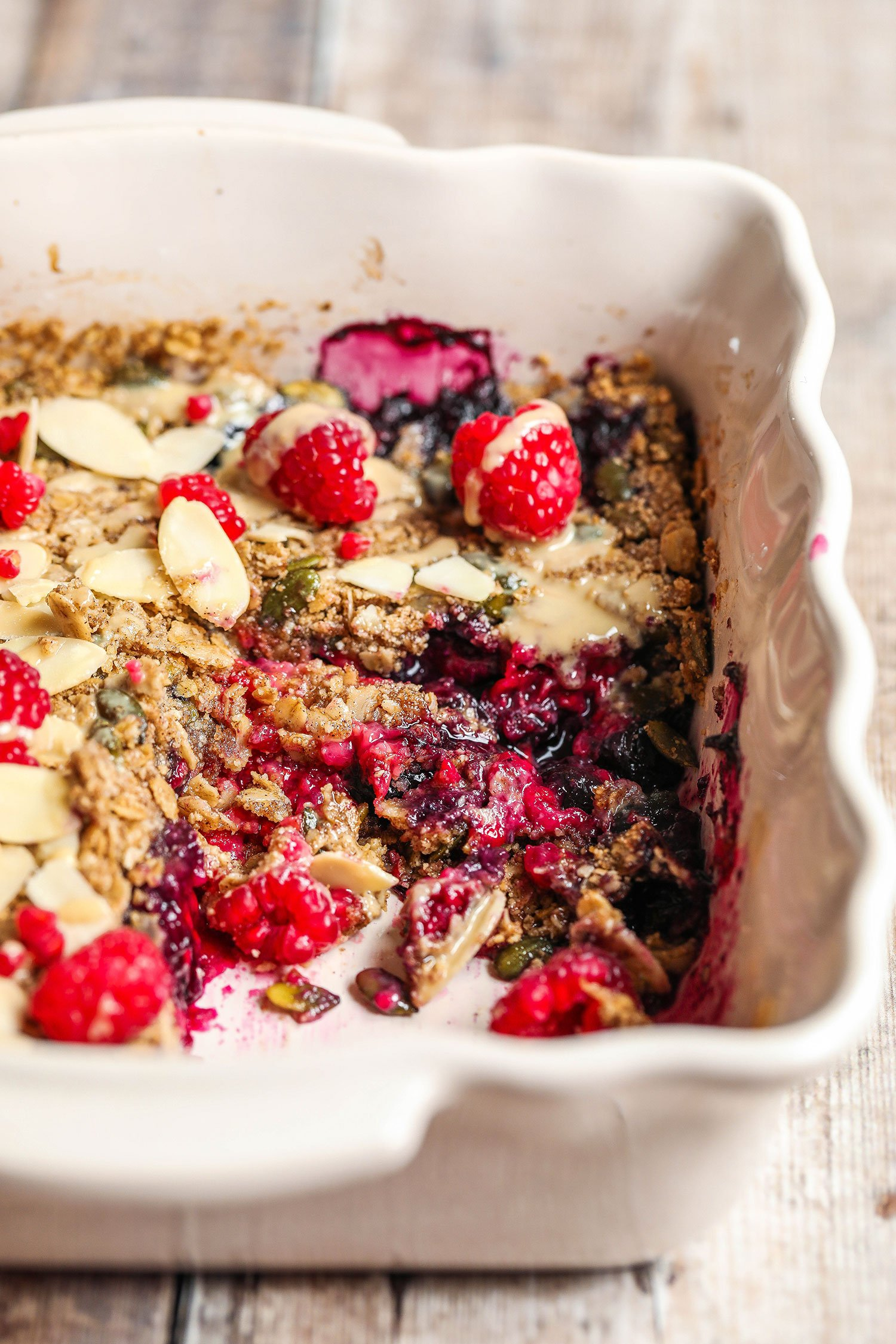 Breakfast Berry Crumble