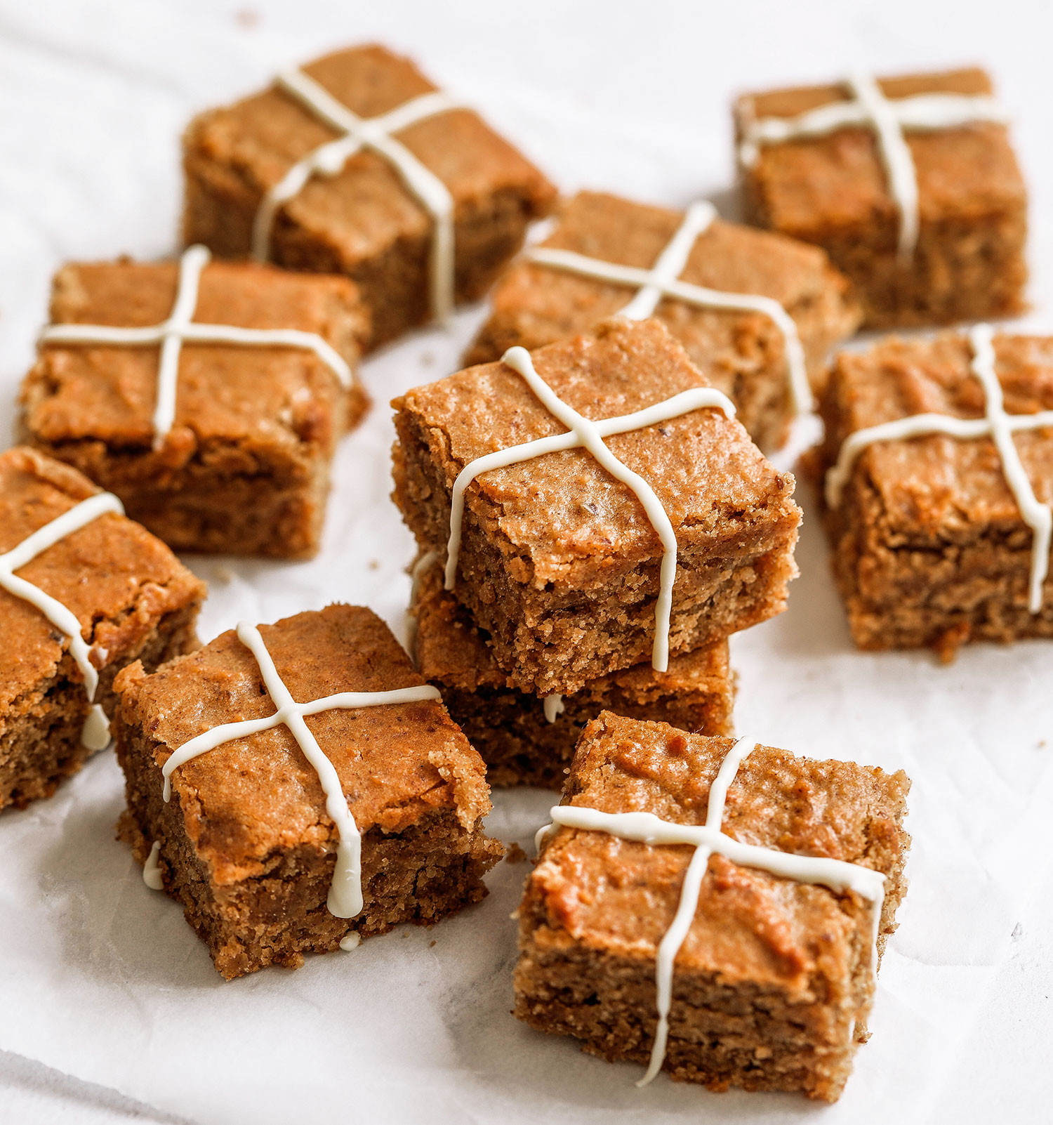 Gluten-free Vegan Hot Cross Blondies