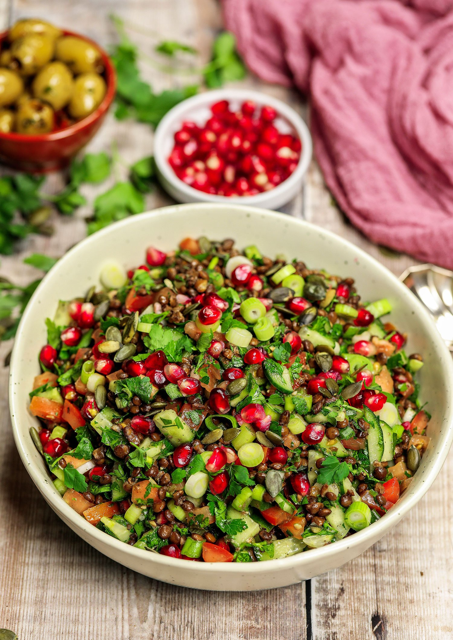 Puy Lentil Tabouleh Salad