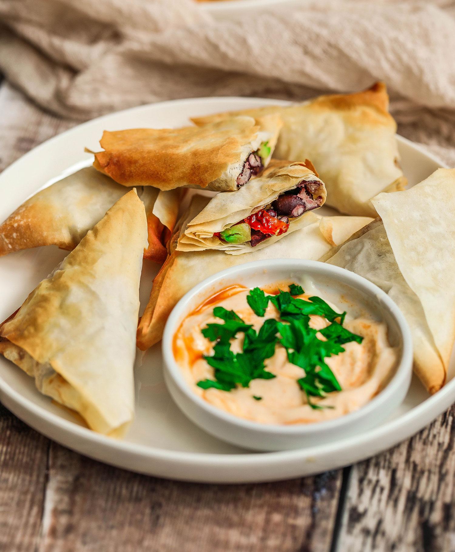 Air Fryer Vegan Samosas