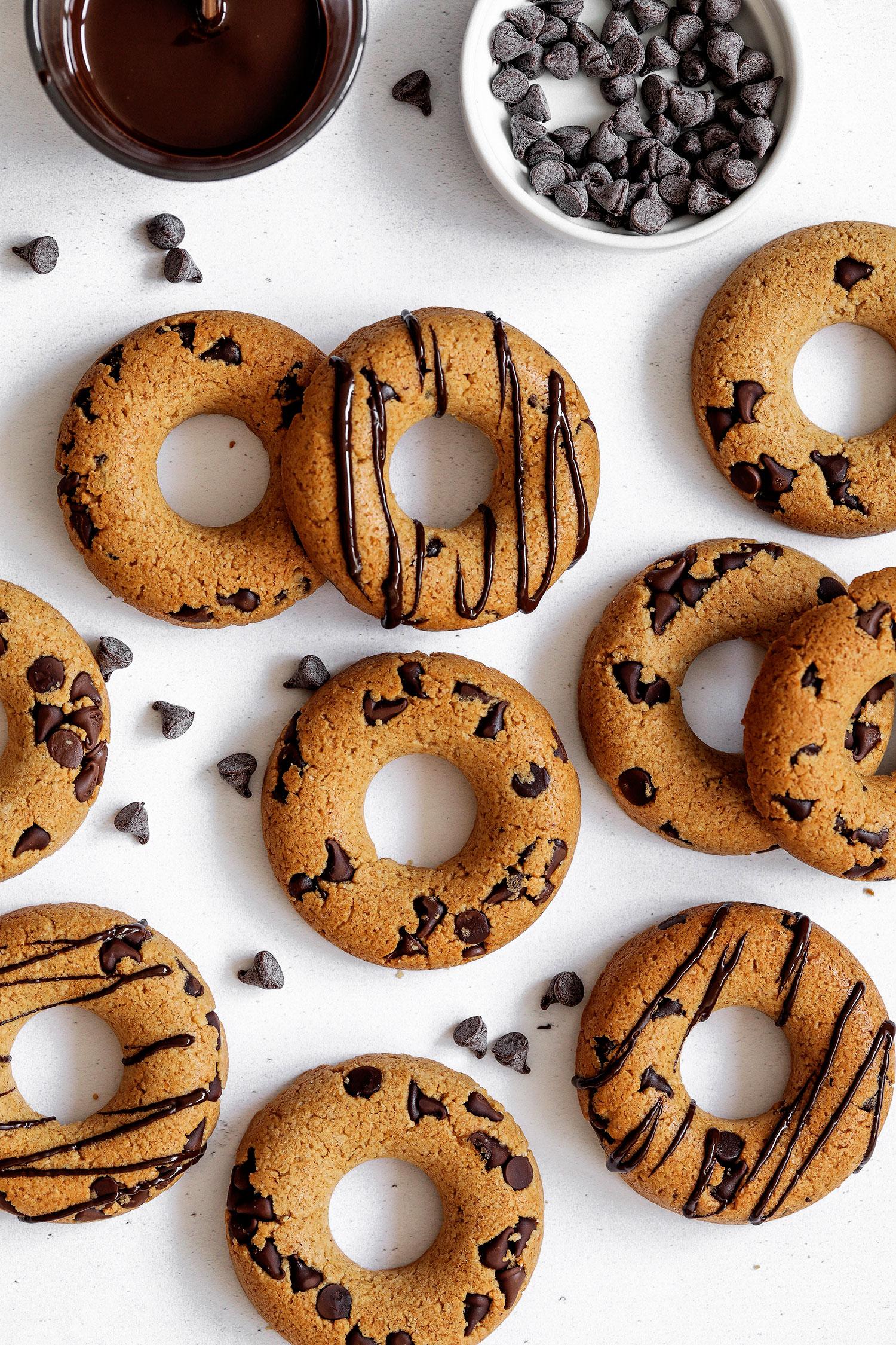 Chocolate Chip Doughnut Cookies – Vegan & Gluten-free