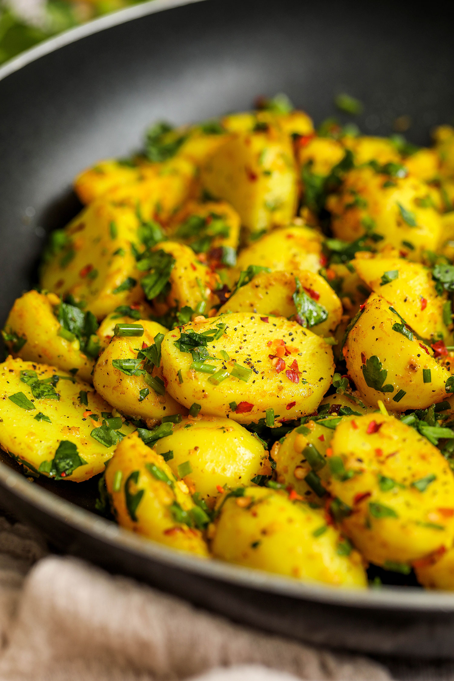Herby Lemon Turmeric Cornish New Potatoes