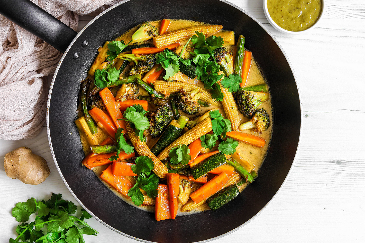 Tefal Actifry Green Curry with Crunchy Vegetables