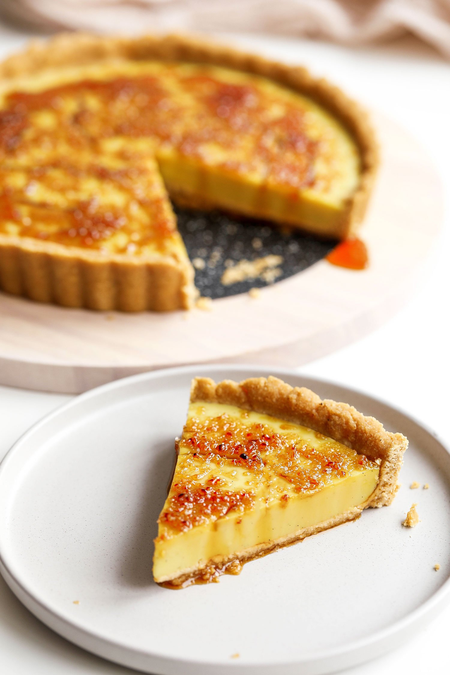 Vegan Crème Brûlée Tart