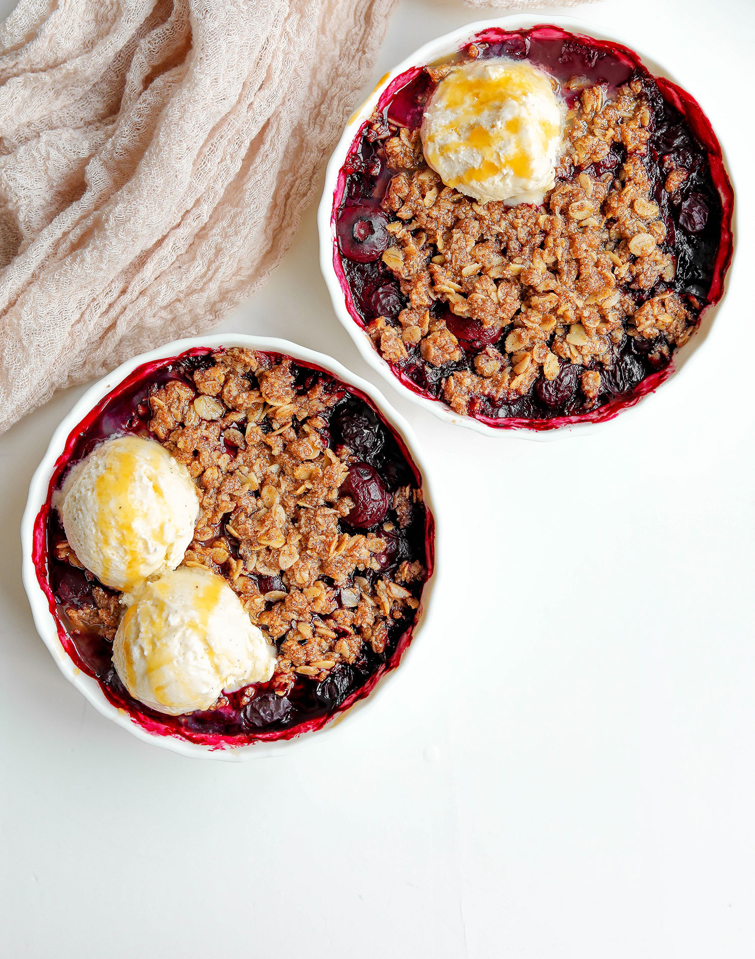 Vegan Gluten-free Blueberry Crumble