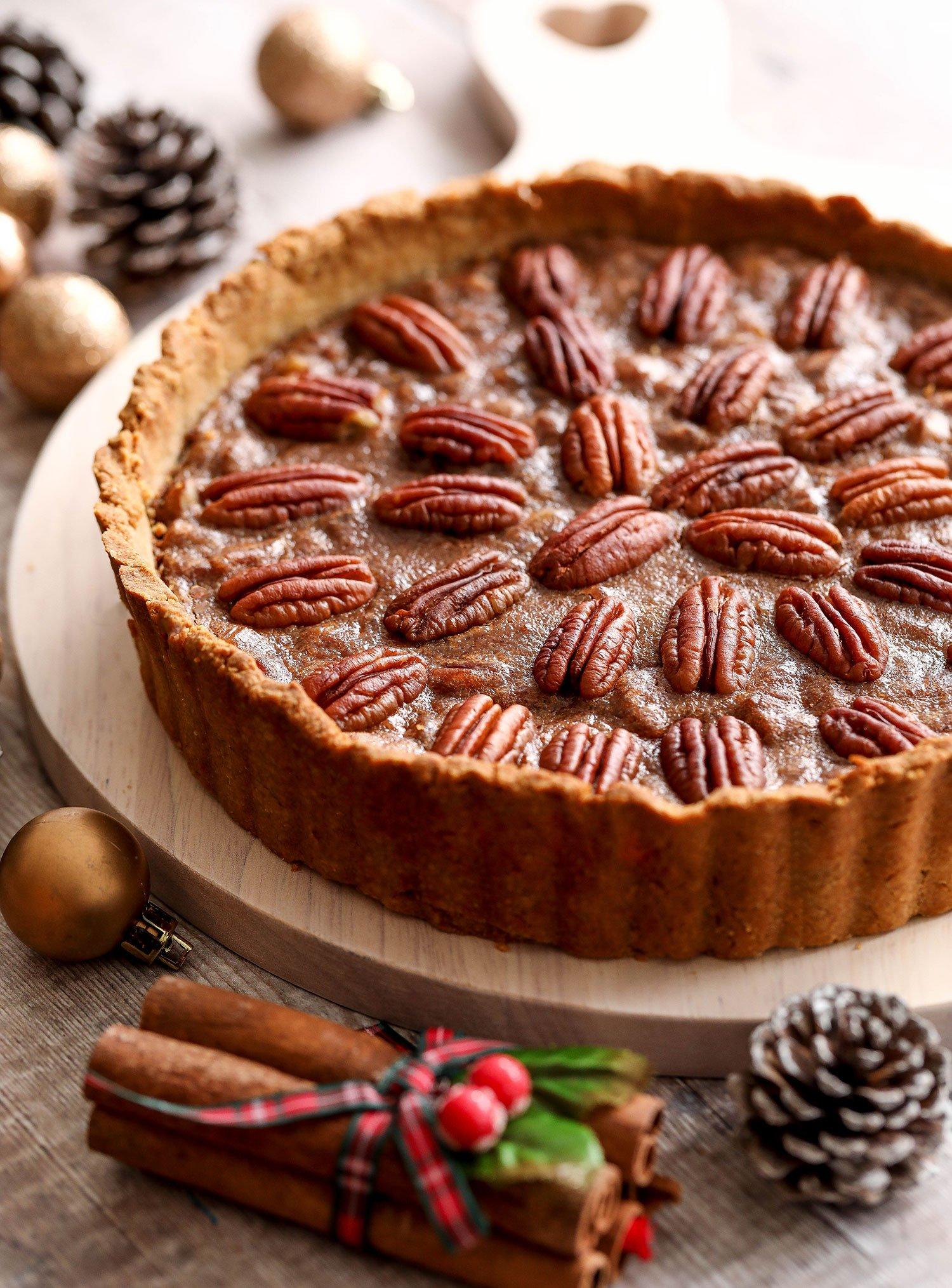 Vegan Gluten-free Spiced Pecan Pie