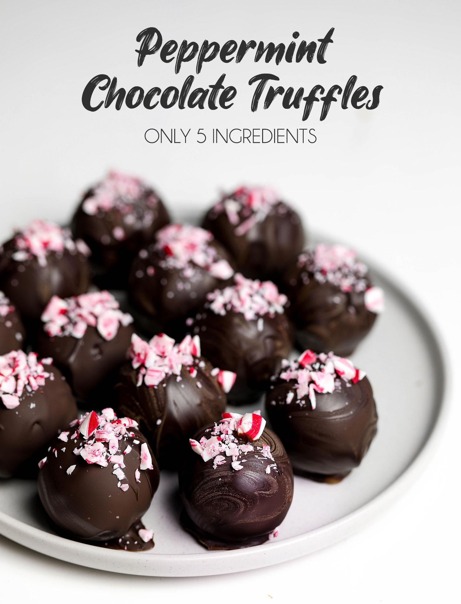 Vegan Peppermint Chocolate Truffles