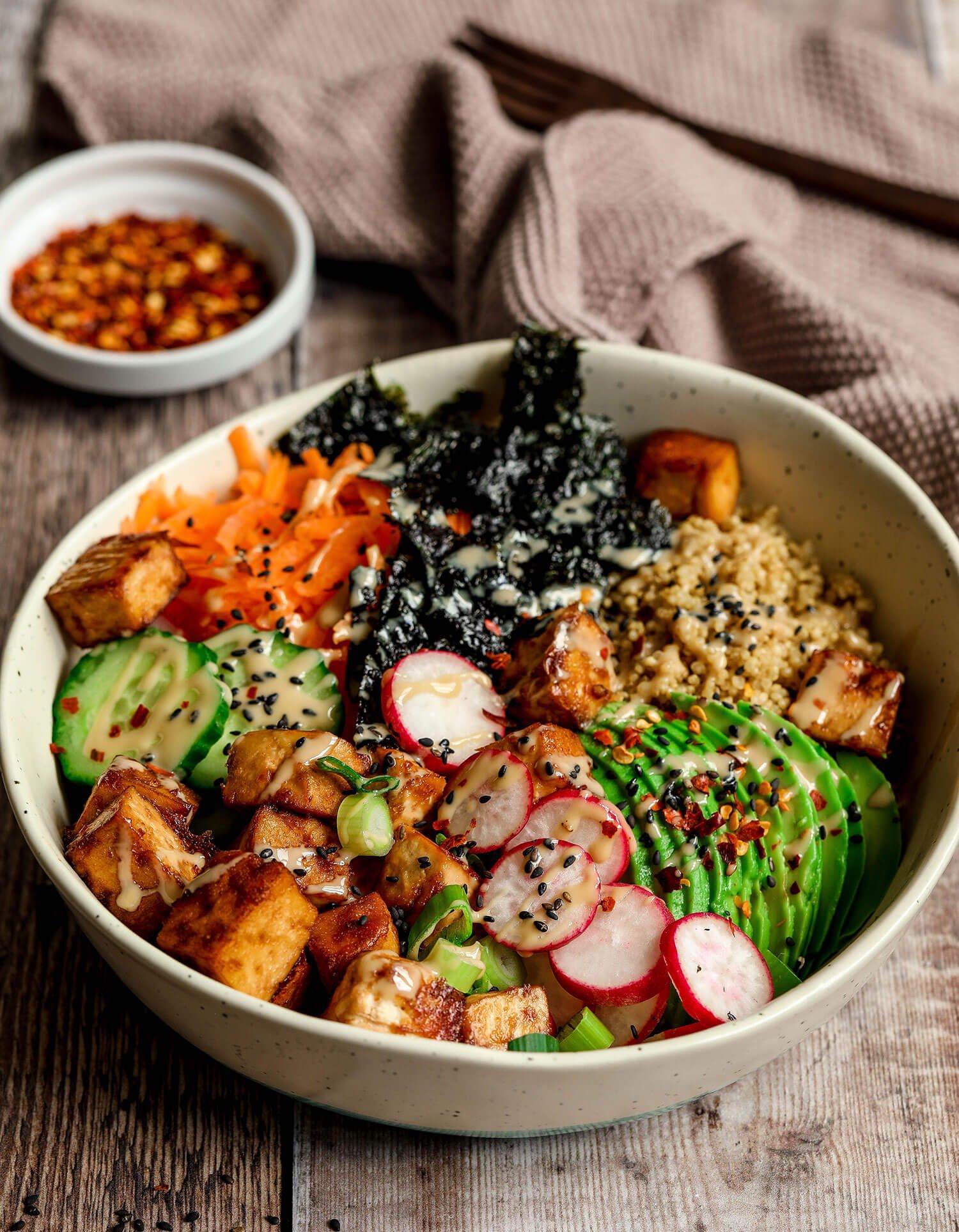 Tofu Quinoa Sushi Bowl