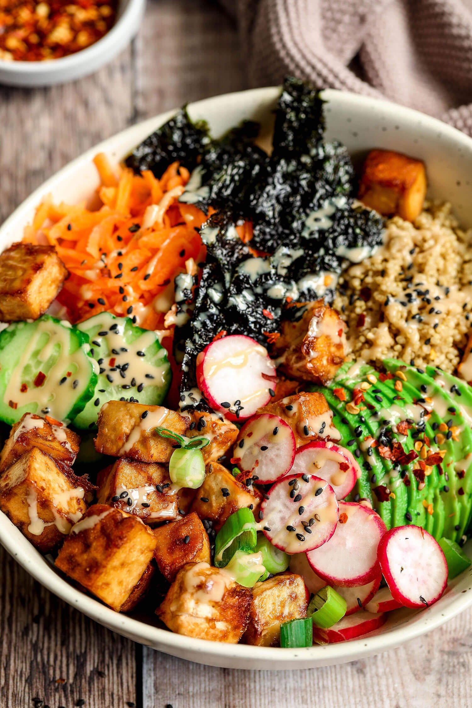 Tofu Quinoa Sushi Bowl - UK Health Blog