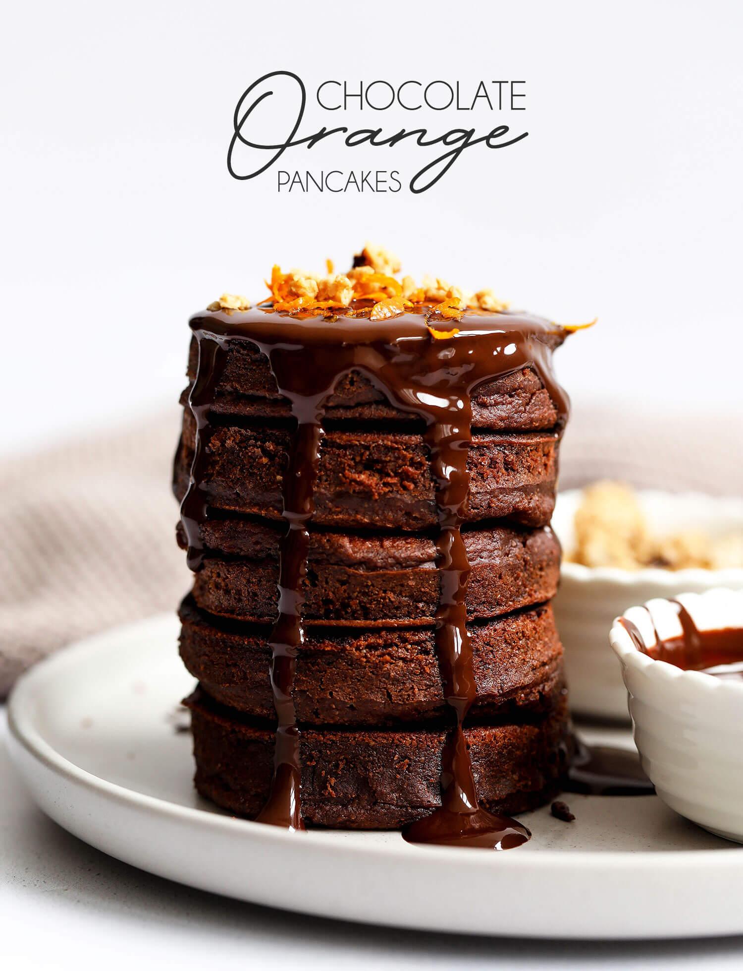 Vegan Chocolate Orange Pancakes