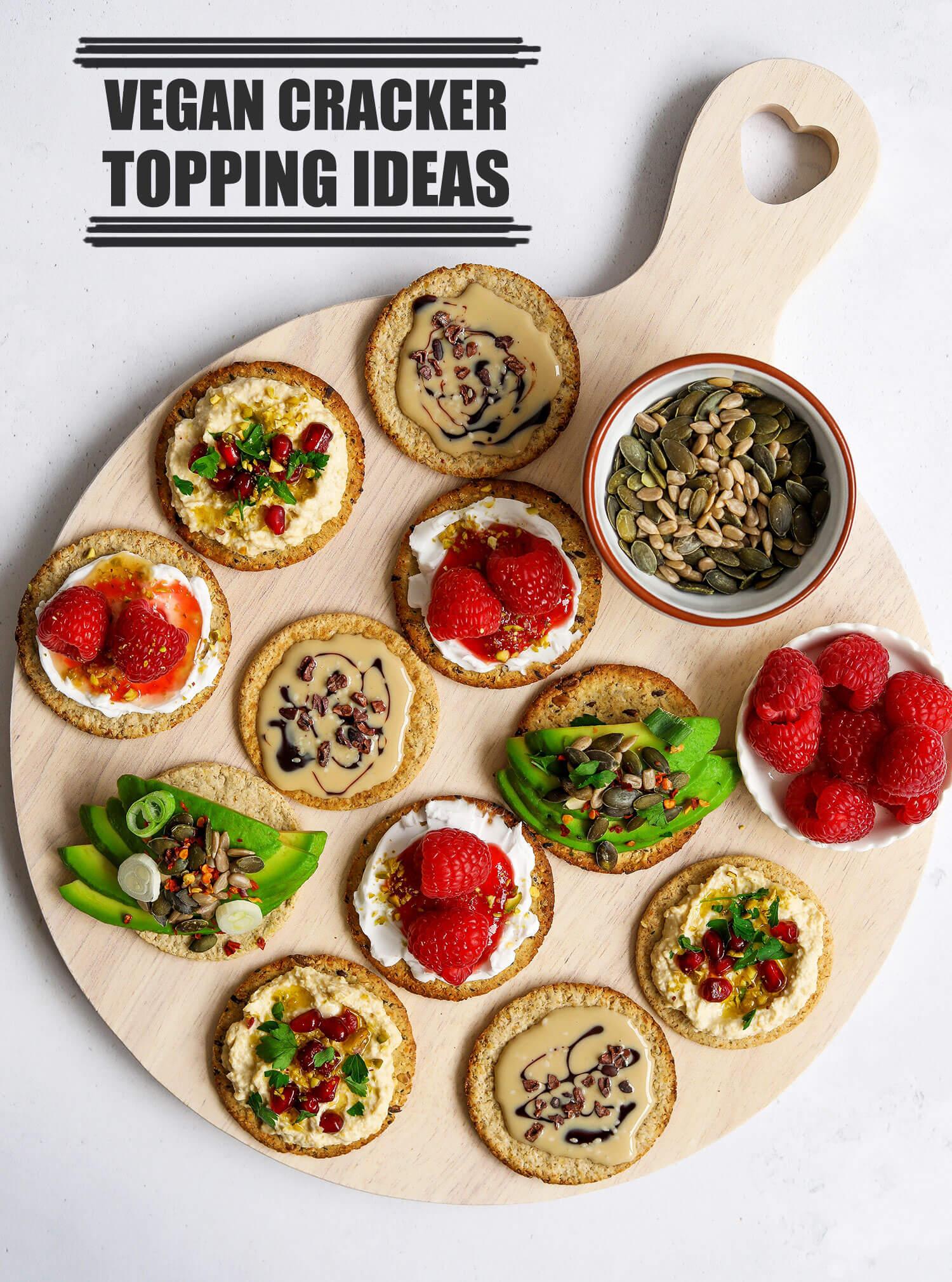 4 Vegan Cracker Topping Ideas