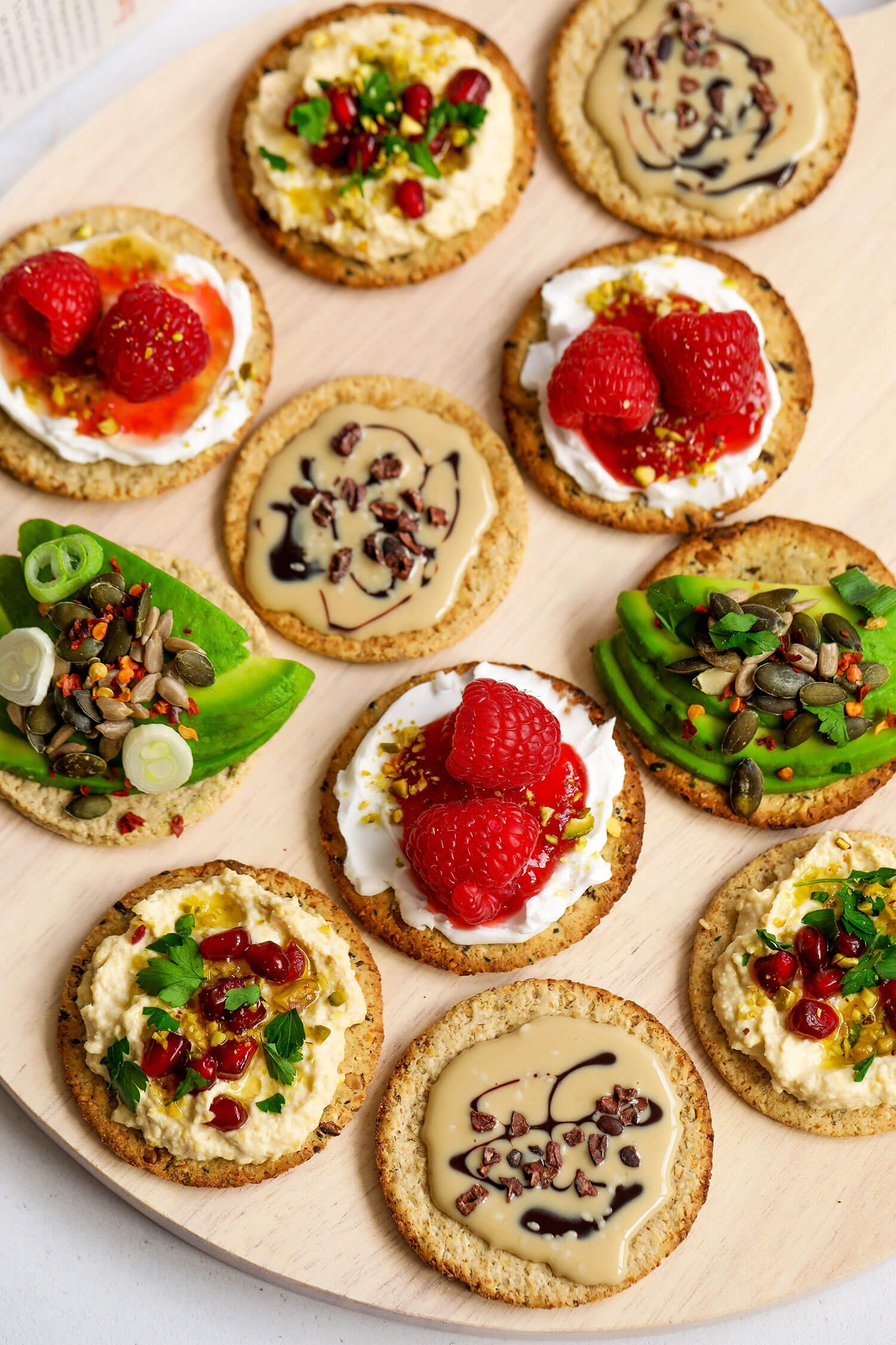 4 Vegan Cracker Topping Ideas
