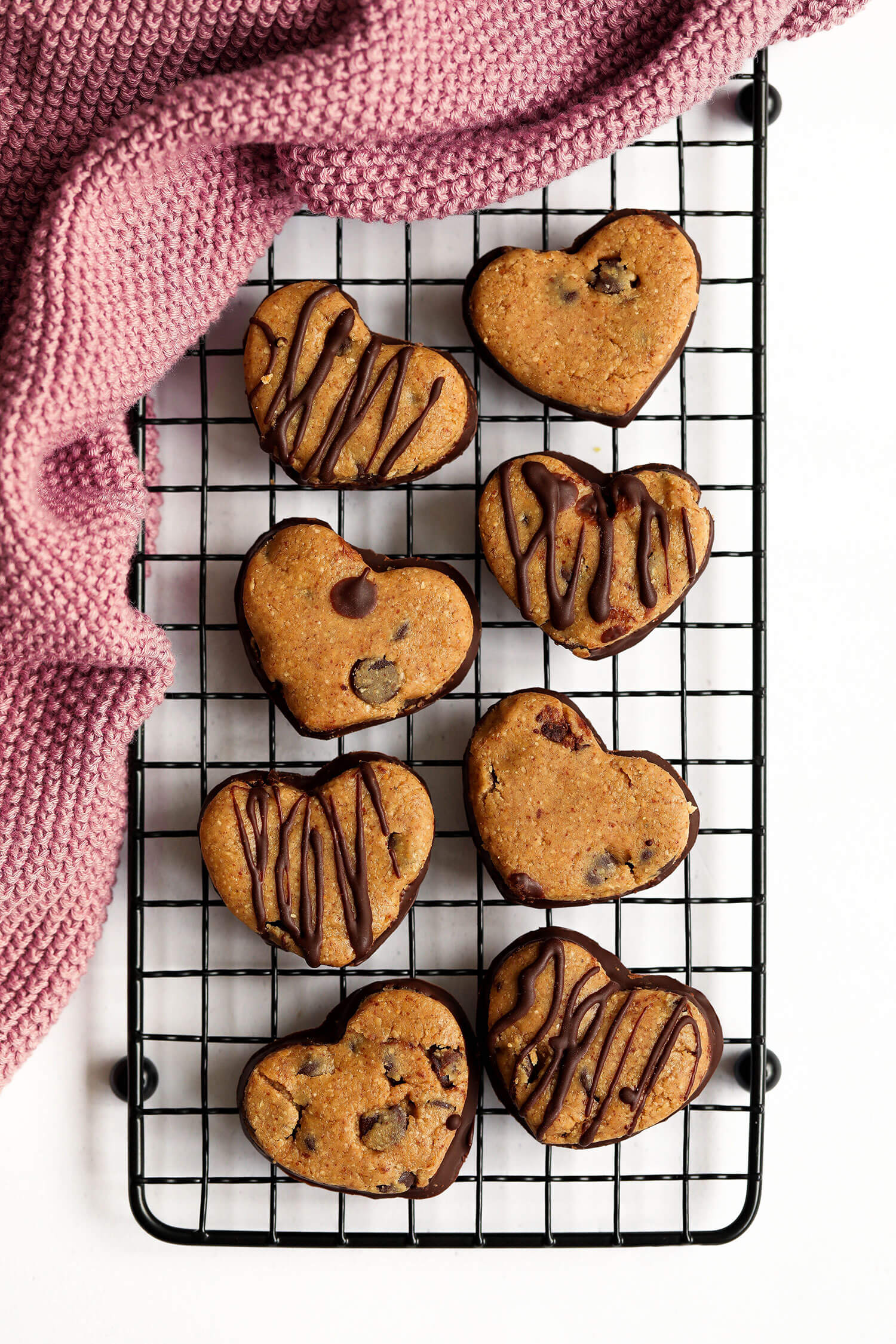 vegan cookie dough hearts