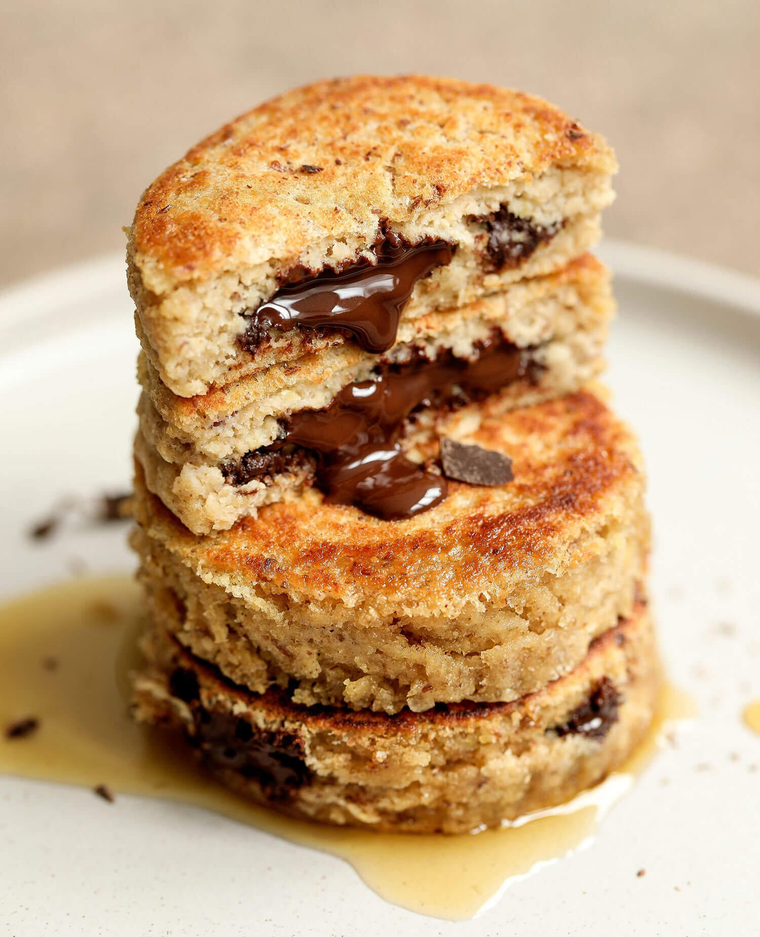 Vegan & Gluten-free Chocolate Stuffed Pancakes