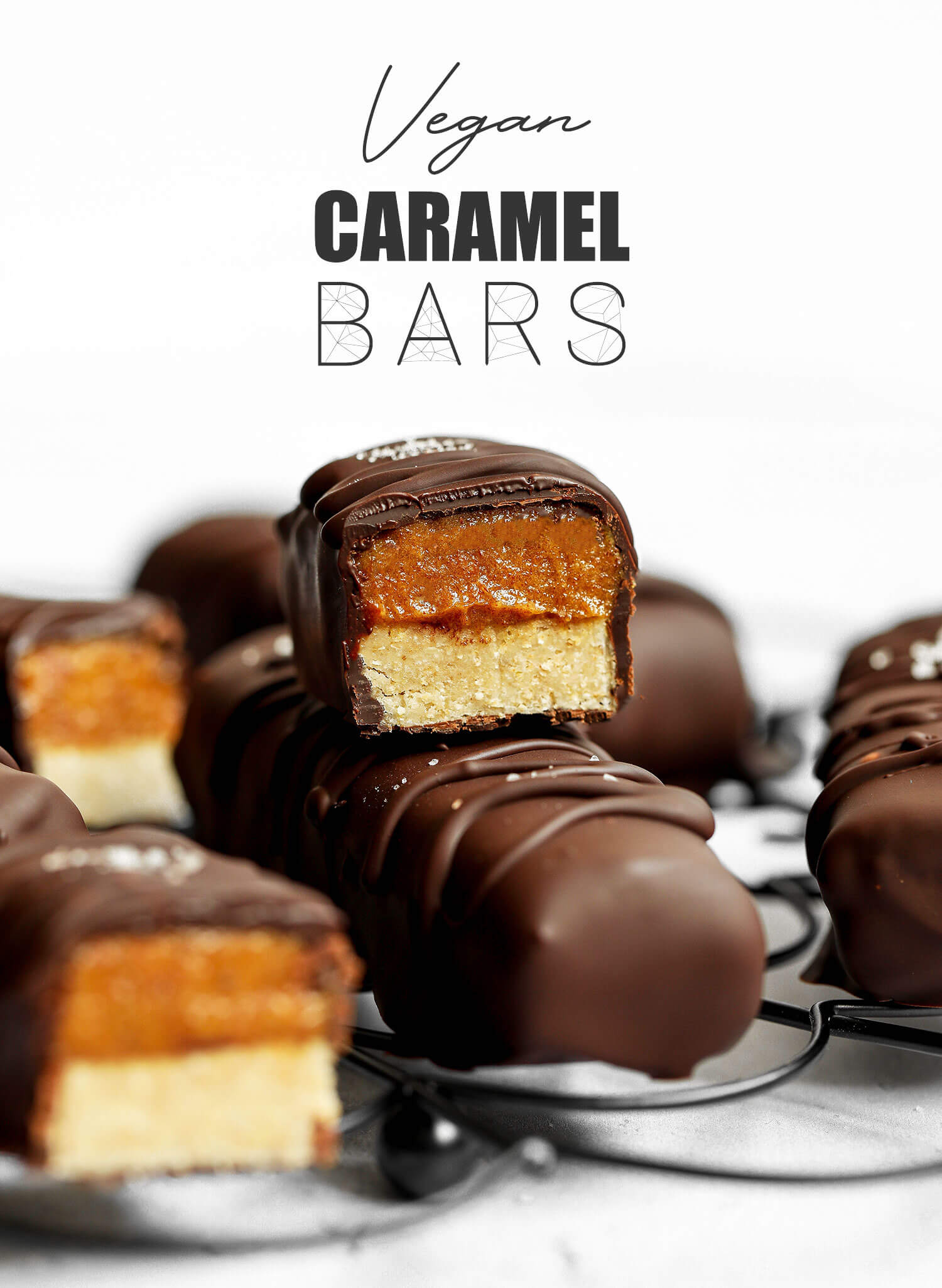 Vegan No-bake Caramel Bars