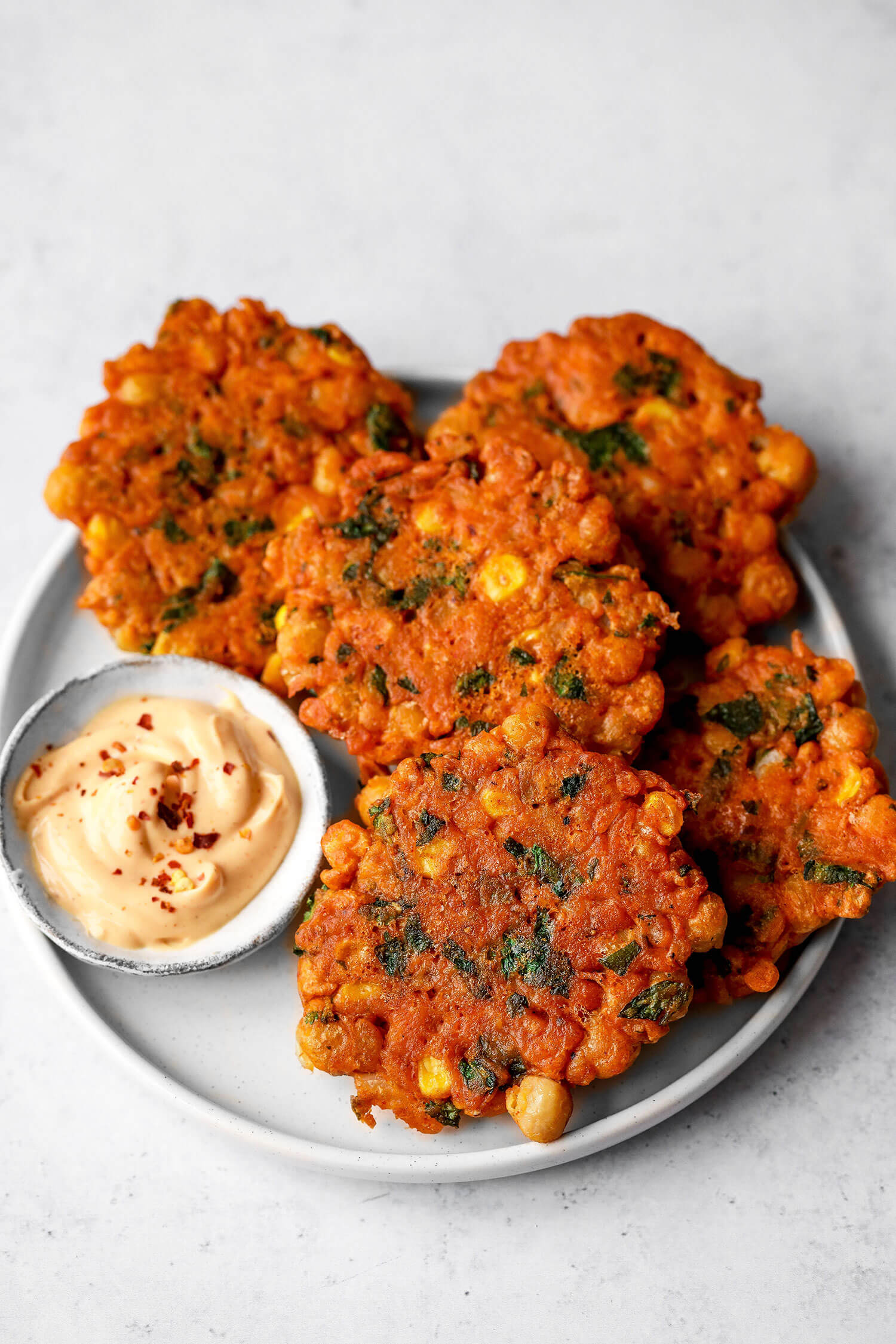 Vegan Chickpea Sweetcorn Fritters