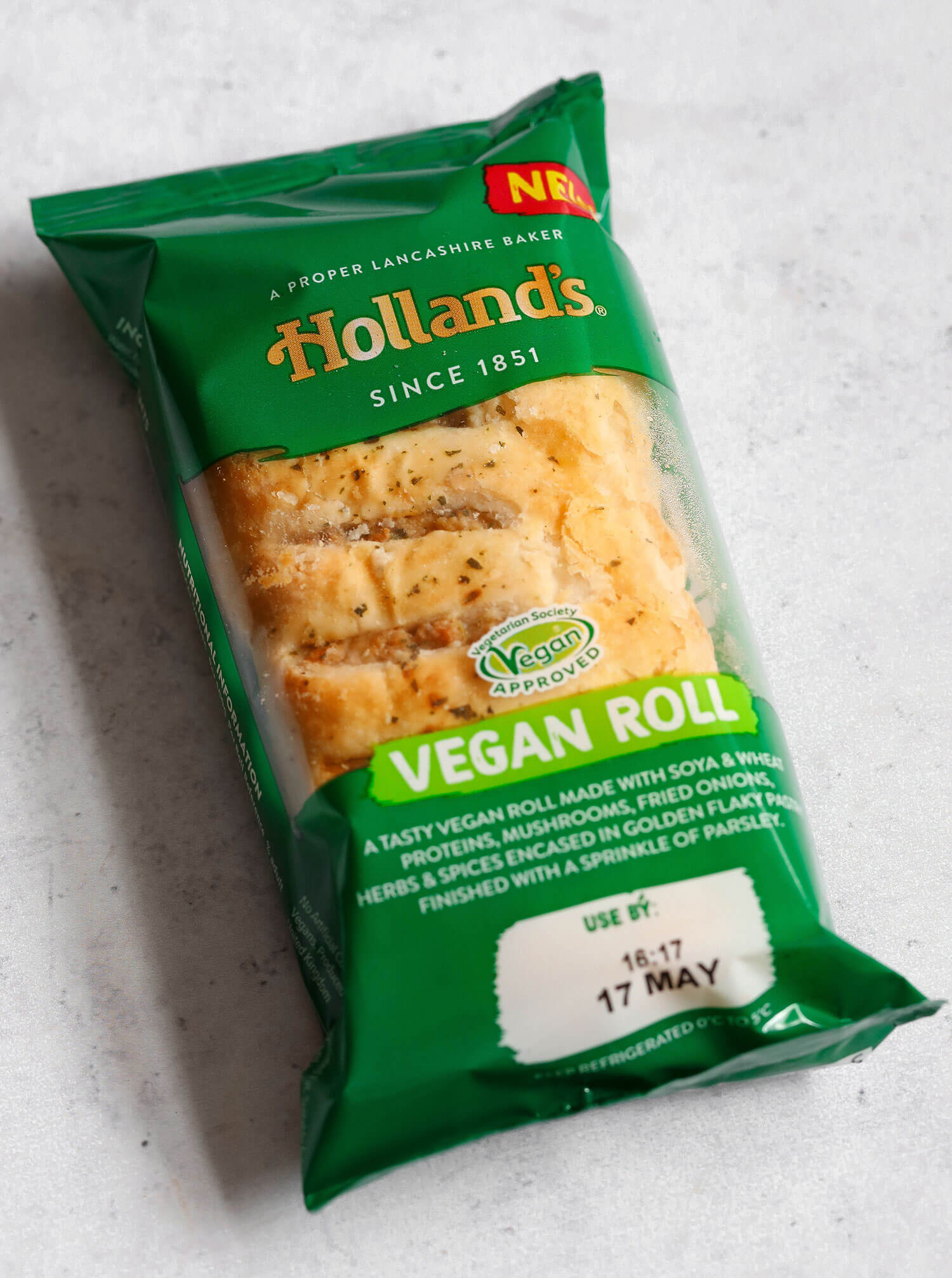 Revisão do rolo de salsicha vegana de tortas da Holanda - UK Health Blog 4
