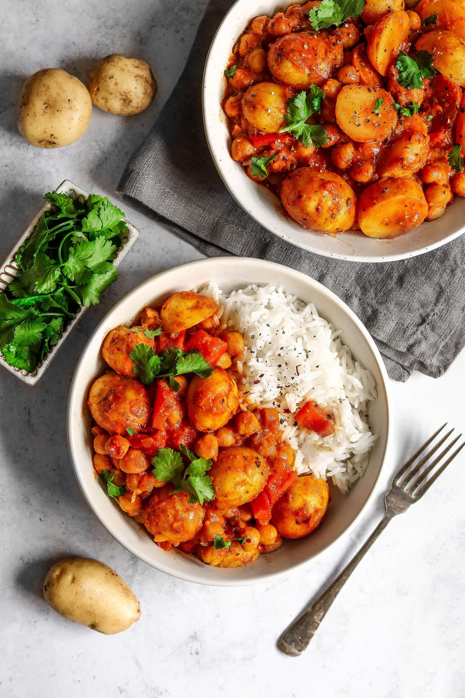 Cornish nova batata e grão de bico Curry - UK Health Blog 5