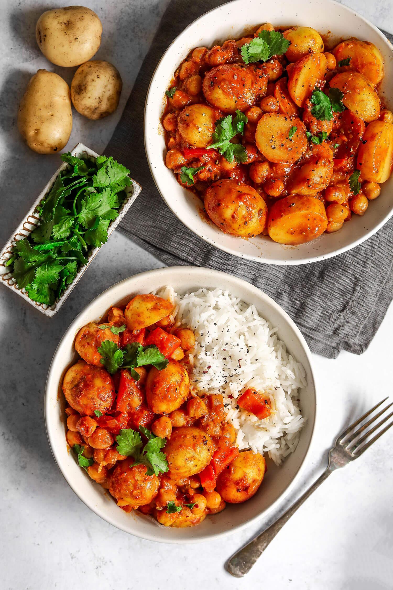 Cornish nova batata e grão de bico Curry - UK Health Blog 6