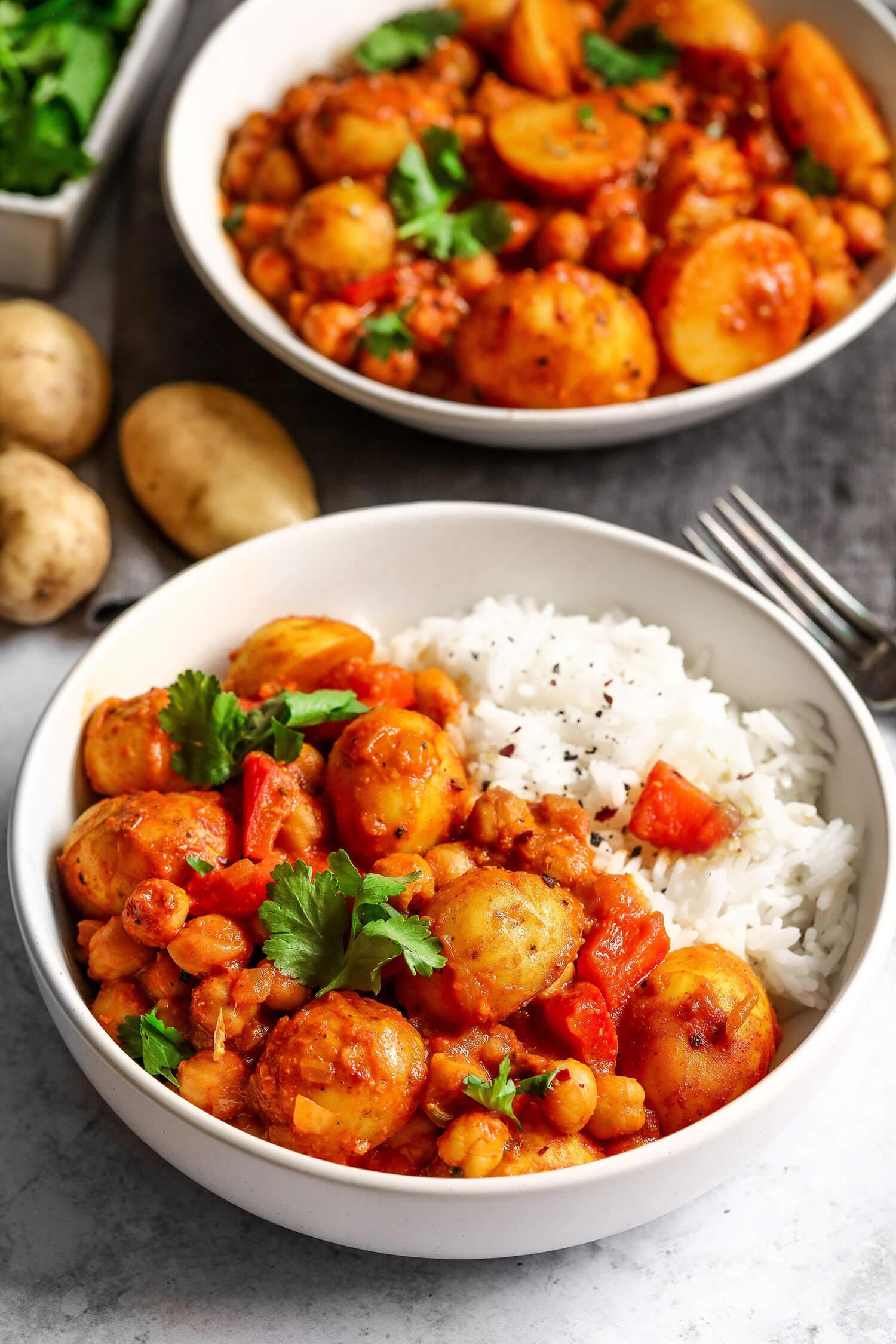 Cornish nova batata e grão de bico Curry - UK Health Blog 3