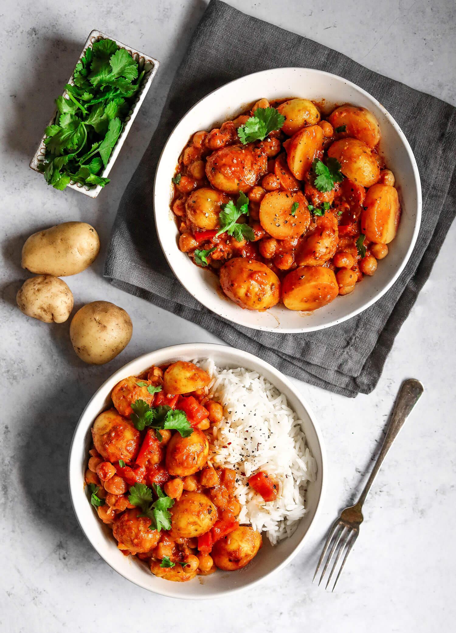 Cornish nova batata e grão de bico Curry - UK Health Blog 2