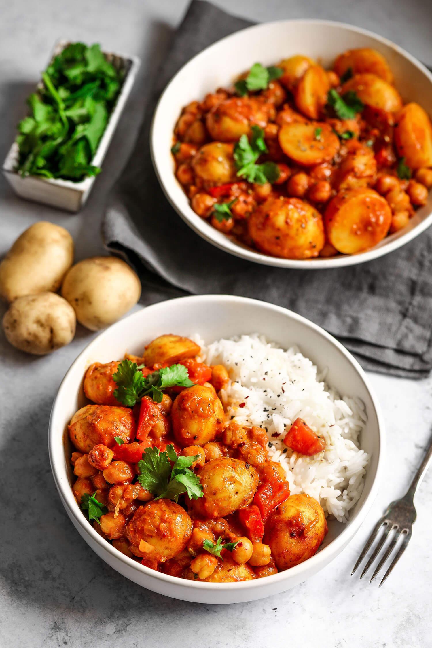 Cornish nova batata e grão de bico Curry - UK Health Blog 7