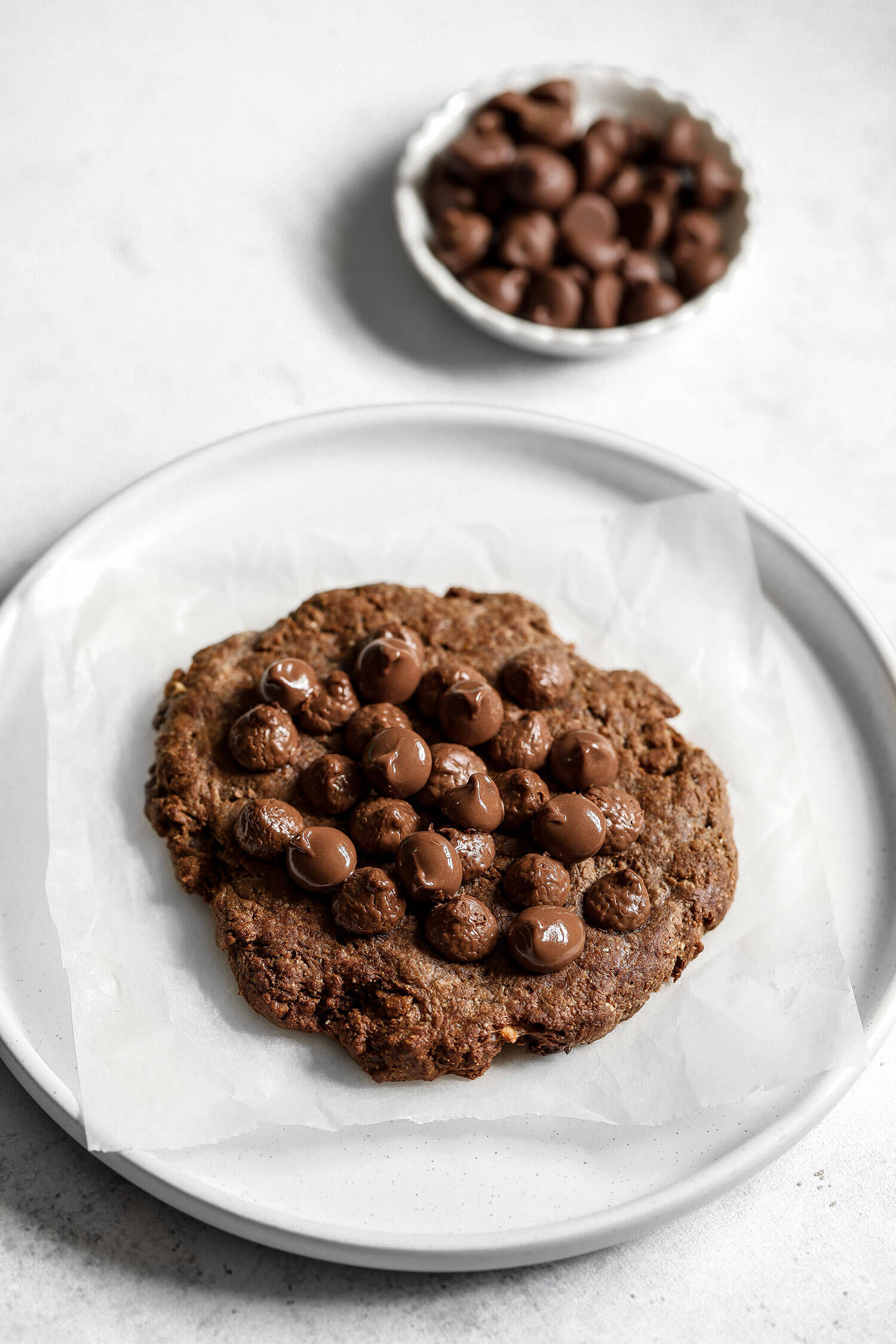 Cookie de proteína de chocolate de dose única vegana - UK Health Blog 7