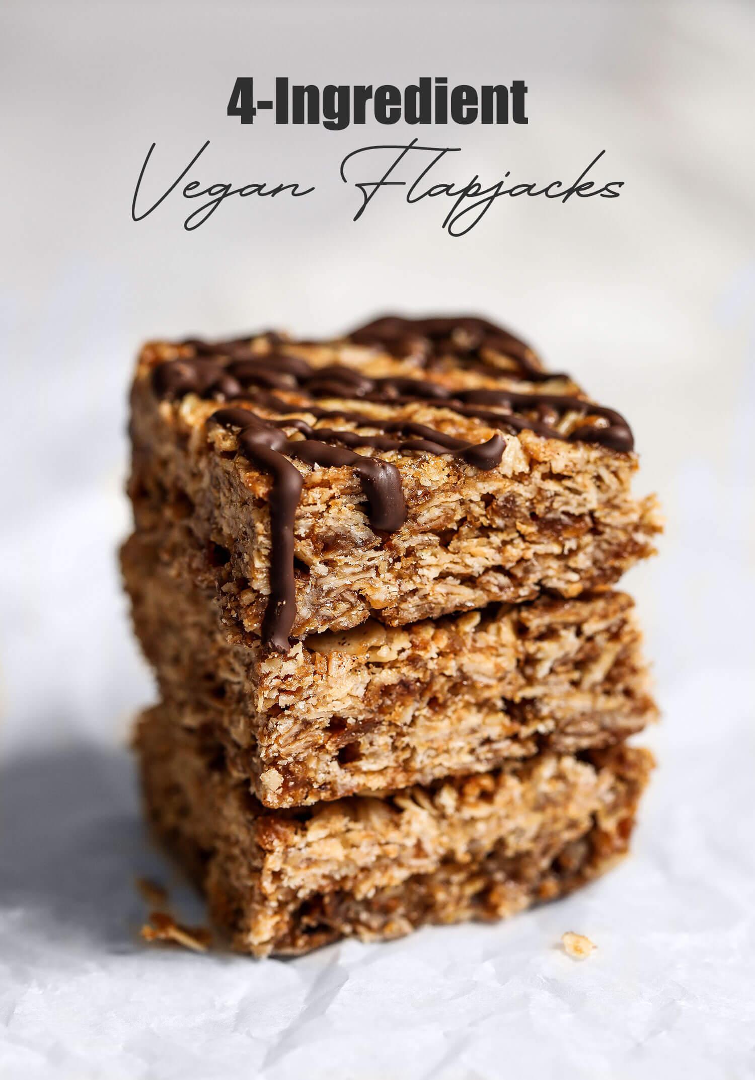 Flapjacks veganos de 4 ingredientes - UK Health Blog 2