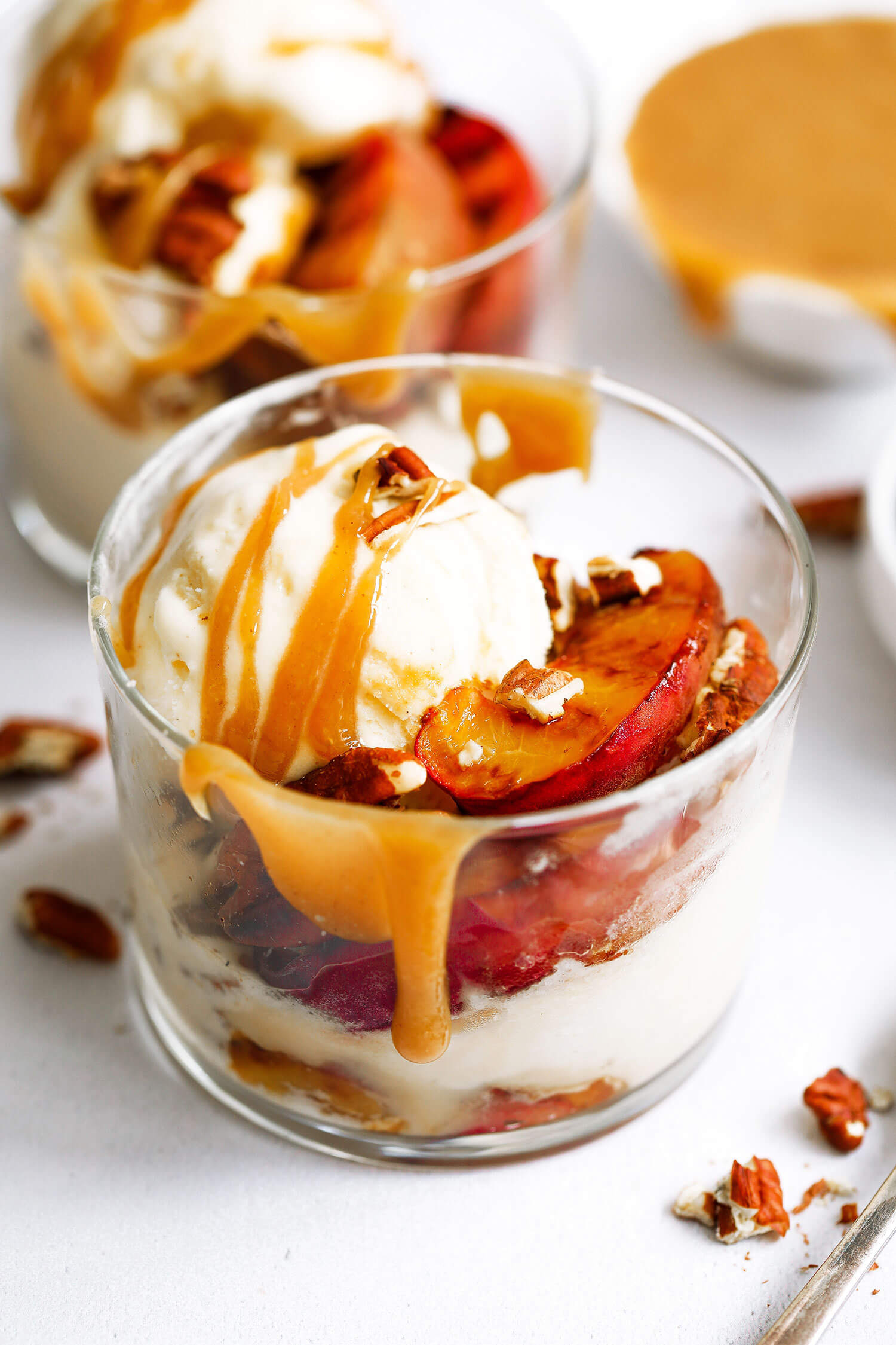 Vegan Grilled Peach Sundae