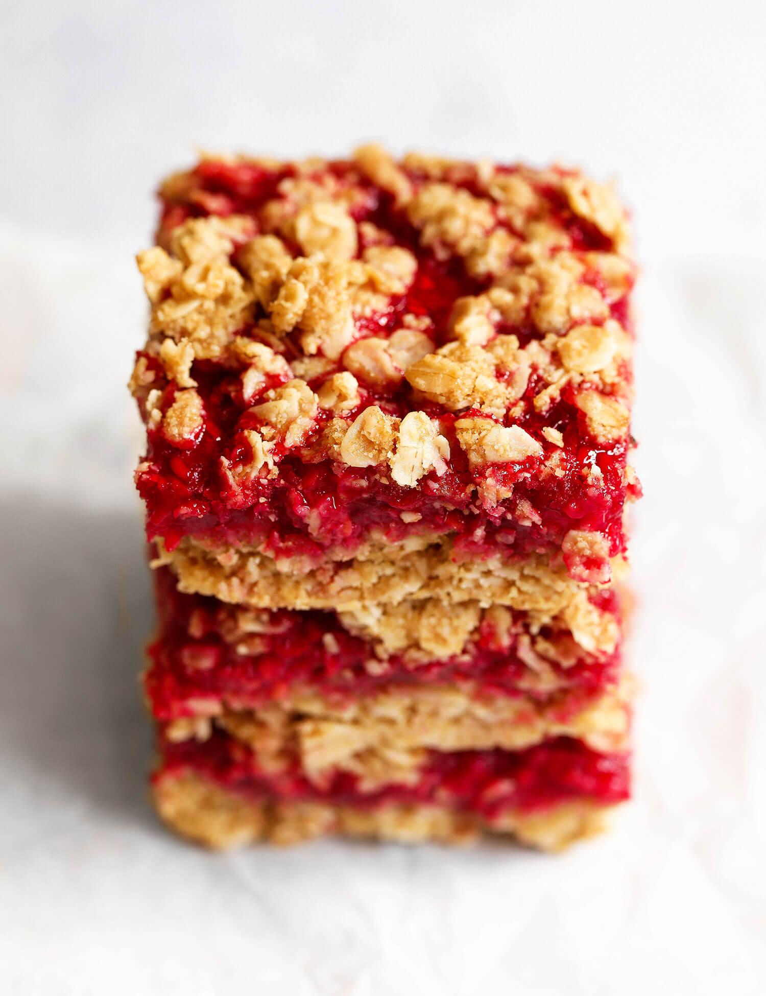 Vegan Gluten-free Raspberry Oat Bars