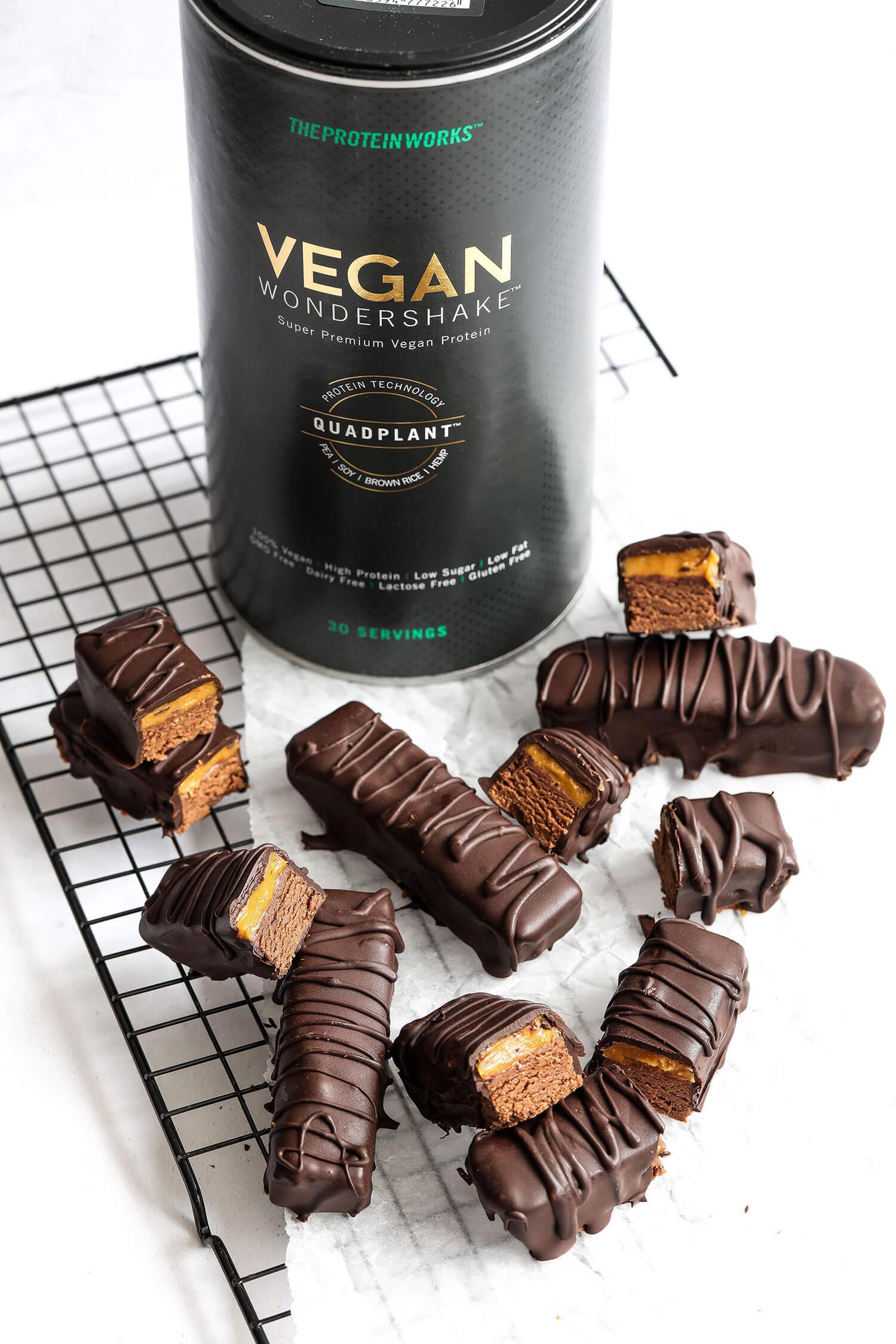 Vegan Salted Caramel Chocolate Protein Bars - UK Health ...