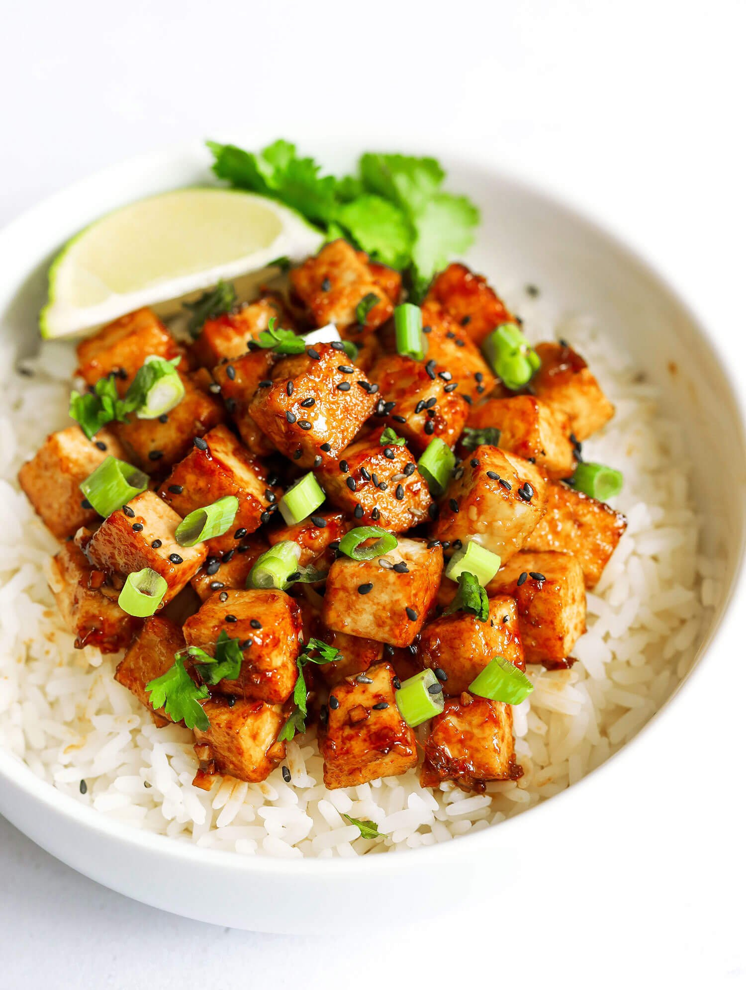 Pan-fried Maple Soy Tofu