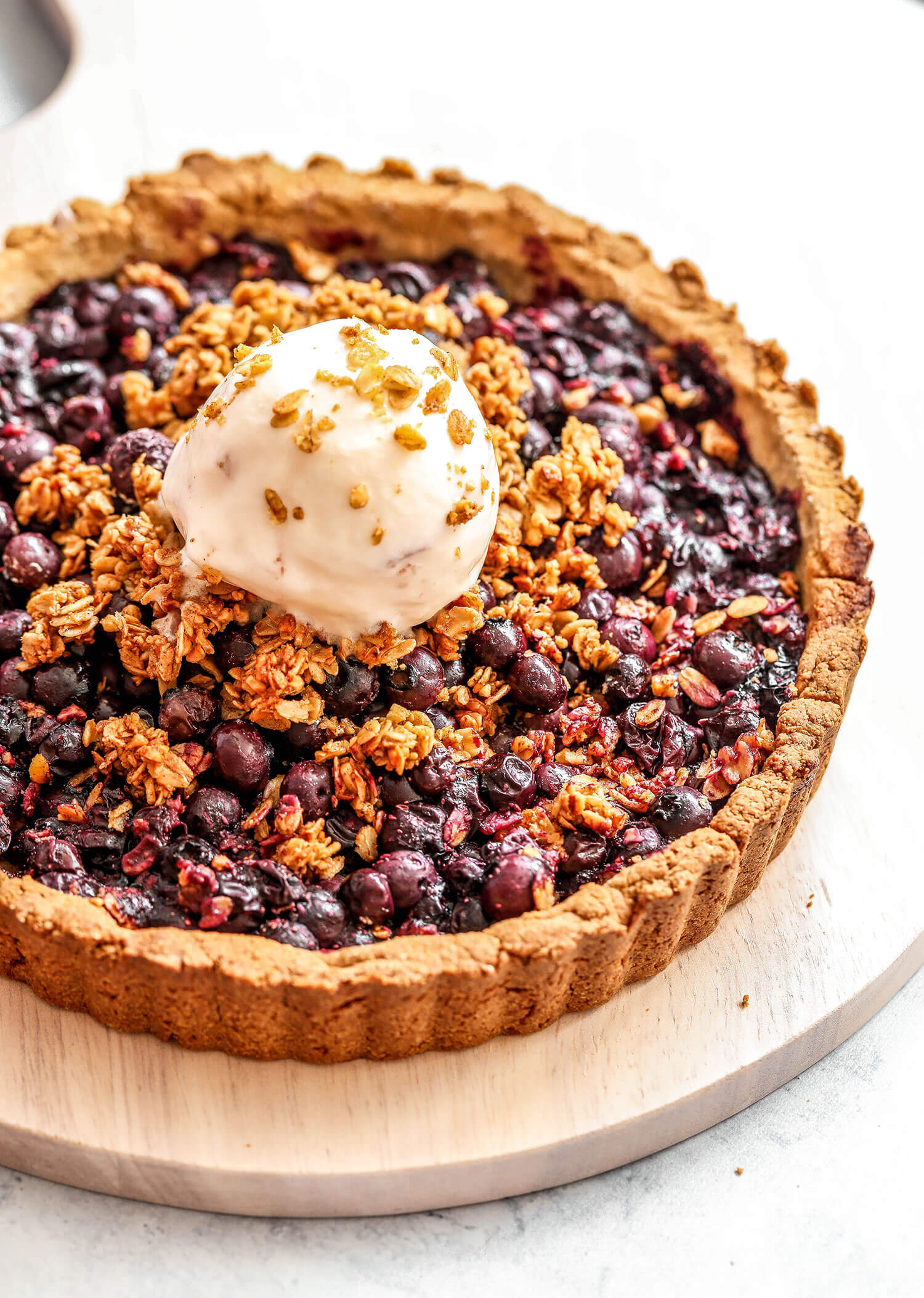 Vegan Blueberry Crisp Tart
