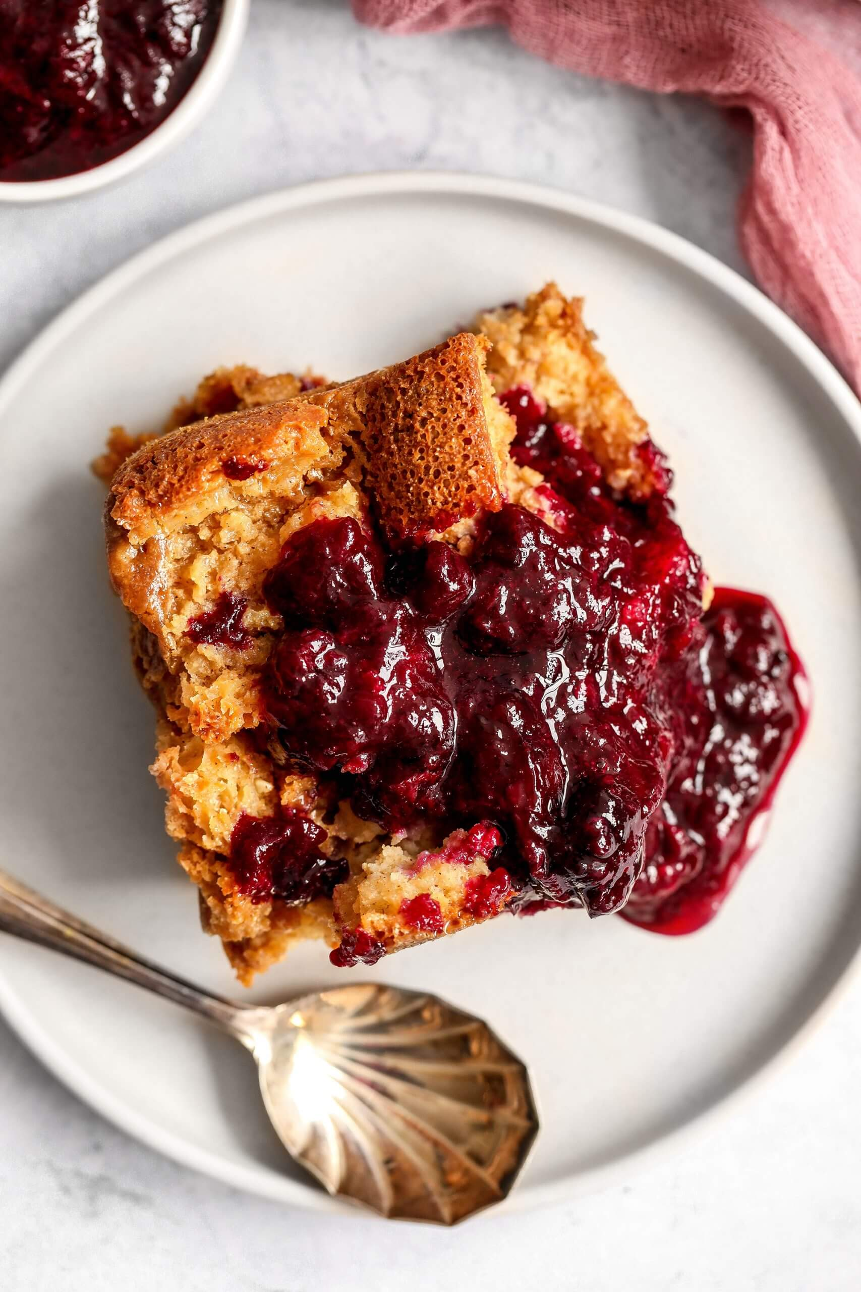 Gluten-free Berry Bread Pudding