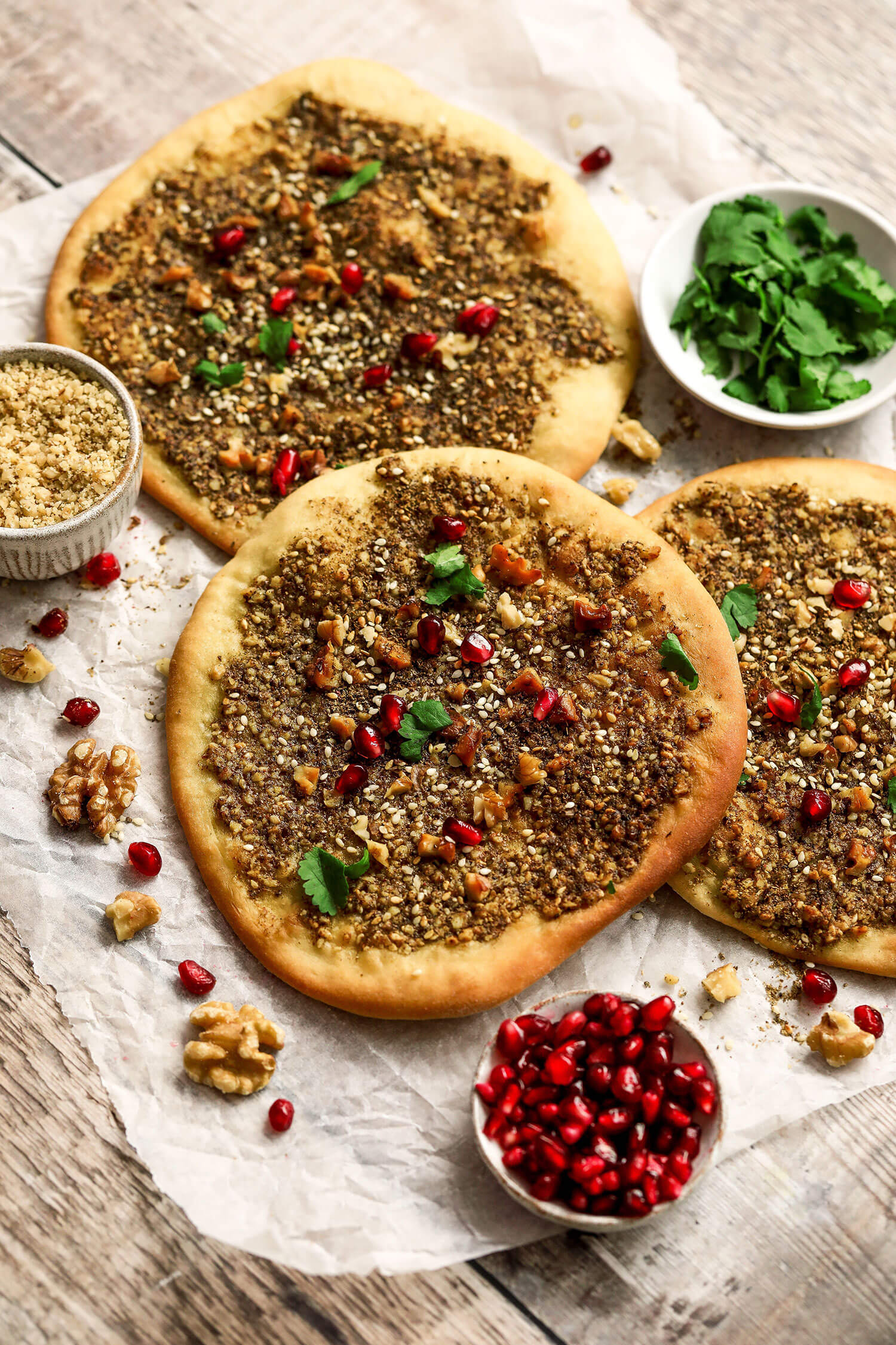California Walnut Za'atar Flat Breads