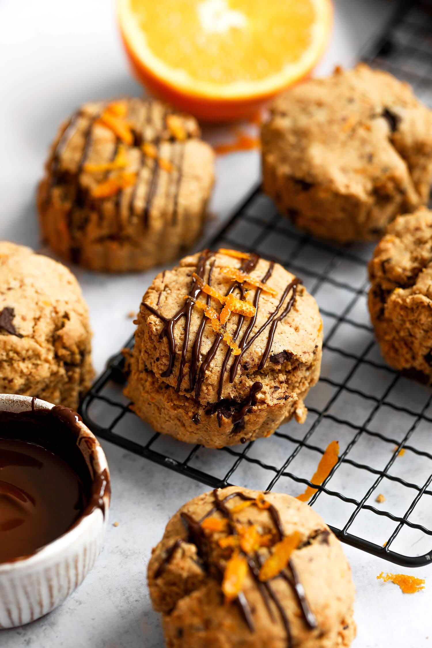Festive Chocolate Orange Scones Vegan & Gluten-free