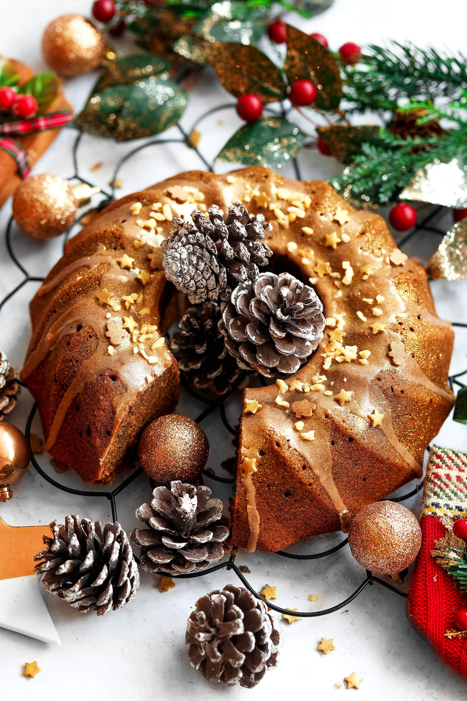 Festive Gingerbread Bundt Cake